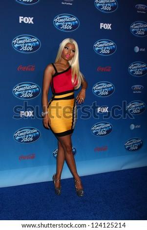 LOS ANGELES - JAN 9:  Nicki Minaj attends the 'American Idol' Premiere Event at Royce Hall, UCLA on January 9, 2013 in Westwood, CA