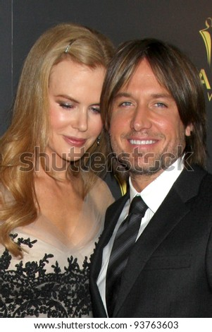 LOS ANGELES - JAN 27:  Nicole Kidman, Keith Urban arrives at the AUSTRALIAN ACADEMY INTERNATIONAL AWARDS at Soho House on January 27, 2012 in West Hollywood, CA