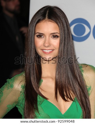 LOS ANGELES - JAN 11:  Nina Dobrev. arrives at  People's Choice Awards 2012 at Nokia Theater at LA Live on January 11, 2012 in Los Angeles, CA