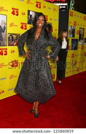 """LOS ANGELES - JAN 23:  Omarosa Manigault Stallworth arrives at the """"Movie 43"""" Los Angeles Premiere at Chinese Theater on January 23, 2013 in Los Angeles, CA - stock photo"""