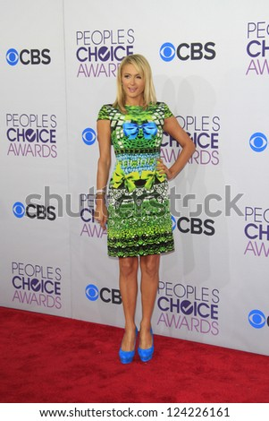 LOS ANGELES - JAN 9: Paris Hilton at the 39th Annual People's Choice Awards at Nokia Theater L.A. Live on January 9, 2013 in Los Angeles, California - stock photo