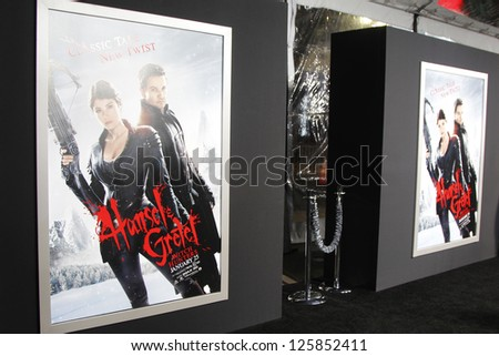 LOS ANGELES - JAN 23: Poster at the LA premiere of Paramount Pictures' 'Hansel And Gretel: Witch Hunters' at Grauman's Chinese Theater on January 24, 2013 in Los Angeles, California