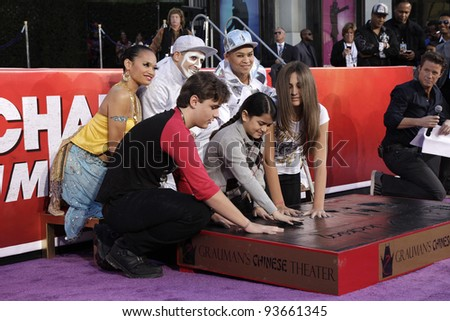 LOS ANGELES - JAN 26: Prince Jackson, Blanket Jackson, Paris Jackson at the hand and footprint ceremony honoring Michael Jackson at Grauman's Chinese Theater on January 26, 2012 in Los Angeles, CA