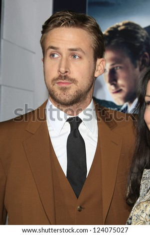 LOS ANGELES - JAN 7: Ryan Gosling at Warner Bros. Pictures' 'Gangster Squad' premiere at Grauman's Chinese Theater on January 7, 2013 in Los Angeles, California