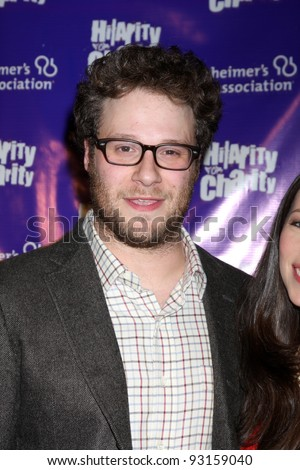 "LOS ANGELES - JAN 13:  Seth Rogen. arrives at  the ""Hilarity For Charity"" Benefit at Vibiana on January 13, 2012 in Los Angeles, CA - stock photo"