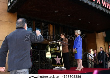 LOS ANGELES - JAN 3:  Taylor Hackford (taking pictures), David Mamet, Helen Mirren at the Hollywood Walk of Fame Star Ceremony for Helen Mirren at Pig 'n Whistle on January 3, 2013 in Los Angeles, CA