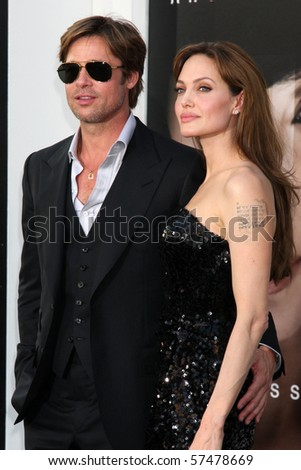 "LOS ANGELES - JUL 19:  Brad Pitt & Angelina Jolie arrive at the ""Salt"" Premiere at Grauman's Chinese Theater on July19, 2010 in Los Angeles, CA ...."