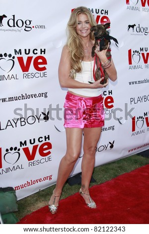 LOS ANGELES - JUL 19: Denise Richards at the Much Love Animal Rescue fundraiser \'Bow Wow Wow\' at the Playboy Mansion on July 19, 2008 in Los Angeles, California