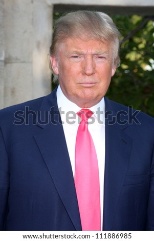 LOS ANGELES - JUL 24:  Donald Trump arrives at  the 12th Annual HollyRod Foundation DesignCare Event at Ron Burkle's Green Acres Estate on July24, 2010 in Beverly Hills, CA .