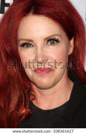 """LOS ANGELES - JUL 22:  Gretchen Bonaduci (Re-inventing Bonaduce) arrives agt the 2012 Outfest Closing Night Gala of """"STRUCK BY LIGHTNING"""" at J.A. Ford Amphitheatre on July 22, 2012 in Los Angeles, CA - stock photo"""