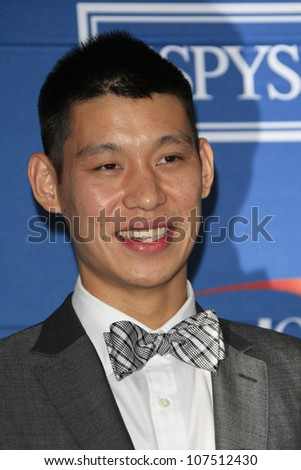 LOS ANGELES - JUL 11: Jeremy Lin in the press room during the 2012 ESPY Awards at Nokia Theater L.A. Live on July 11, 2012 in Los Angeles, California