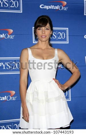 LOS ANGELES - JUL 11: Jessica Biel in the press room during the 2012 ESPY Awards at Nokia Theater L.A. Live on July 11, 2012 in Los Angeles, California