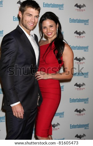 LOS ANGELES - JUL 23:  Liam McIntyre, Katrina Law arriving at the EW Comic-con Party 2011 at EW Comic-con Party 2011 on July 23, 2011 in Los Angeles, CA - stock photo