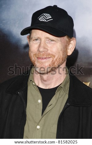 LOS ANGELES - JUL 23: Ron Howard at the 'Cowboys & Aliens' world premiere at the Civic Theater in San Diego, California on July 23, 2011