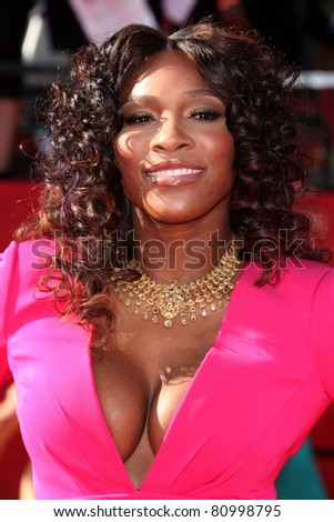 LOS ANGELES - JUL 13:  Serena Williams arriving at the 2011 ESPY Awards at Nokia Theater at LA Live on July 13, 2011 in Los Angeles, CA