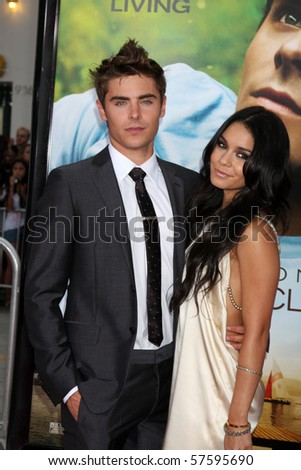 """LOS ANGELES - JUL 20:  Vanessa Hudgens & Zac Efron arrive at the """"Charlie St. Cloud"""" Premiere at Village Theater on July20, 2010 in Westwood, CA ...."""