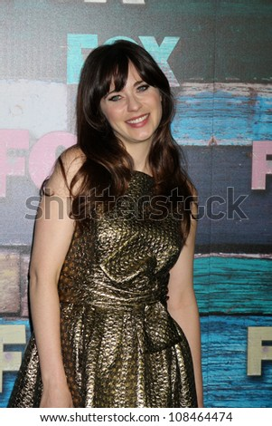LOS ANGELES - JUL 23:  Zooey Deschanel arrives at the FOX TCA Summer 2012 Party at Soho House on July 23, 2012 in West Hollywood, CA