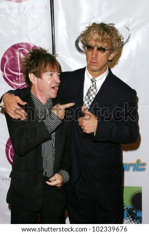 """LOS ANGELES - JULY 21: Andy Dick, Rodney Bingenheimer at """"The Assistant"""" - Party for the launch of the new MTV series at Bliss on July 21, 2004 in Los Angeles, California"""