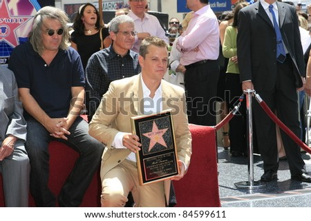 LOS ANGELES - JULY 25:  at a ceremony where Matt Damon is honored with the 2,343rd star on the 'Hollywood Walk of Fame' on 25 July 2007 in Los Angeles, California