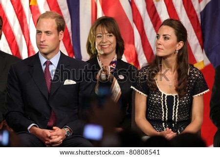 "LOS ANGELES - JULY 10:  Prince William, and Catherine,  The Duke And Duchess Of Cambridge attend The Mission Serve ""Hiring Our Heroes"" Job Fair at Sony Pictures on July 10, 2011 in Culver City, CA"