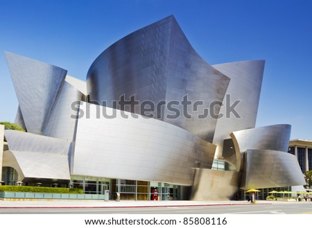 LOS ANGELES - JULY 27: Walt Disney Concert Hall in Los Angeles, CA on July 27, 2011. The hall was designed by Frank Gehry and is a major component in the Los Angeles Music Center complex.