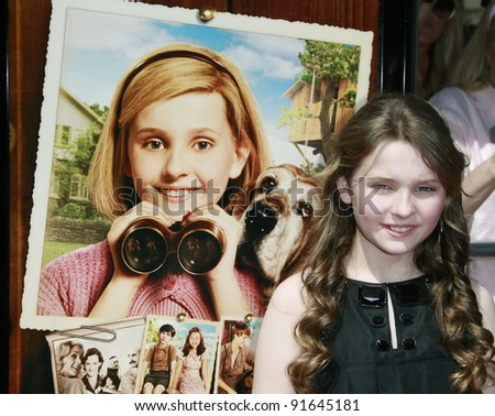 LOS ANGELES - JUN 14: Abigail Breslin at the world premiere of 'Kit Kittredge: An American Girl' at the Grove in Los Angeles, California on 14 June 2008