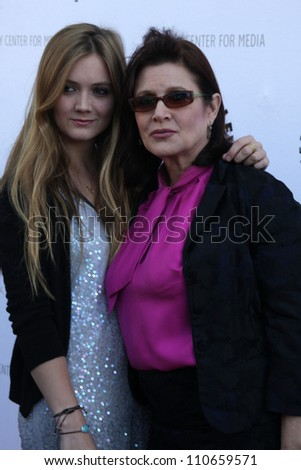 LOS ANGELES - JUN 7:  Billie Catherine Lourd (Daughter), Carrie Fisher at the Debbie Reynolds Hollywood Memorabilia Collection Auction at Paley Center For Media on June 7, 2011 in Beverly Hills, CA