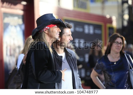 LOS ANGELES - JUN 8: Bret Michaels, Tom Cruise at the 'Rock of Ages' Los Angeles premiere held at Grauman's Chinese Theater on June 8, 2012 in Los Angeles, California