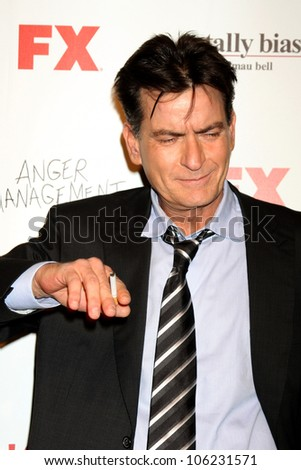 LOS ANGELES JUN 26 Charlie Sheen arrives at the FX Summer Comedies Party at Lure on June 26 2012 in Los Angeles CA