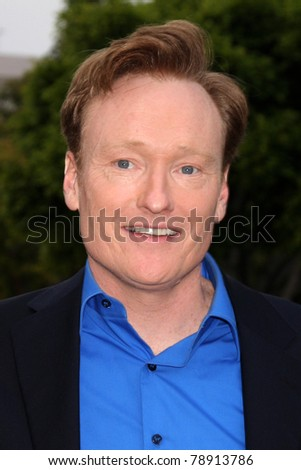 "LOS ANGELES - JUN 8:  Conan O'Brien arriving at the ""Super 8"" Premiere at Village Theataer on June 8, 2011 in Westwood, CA"