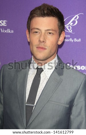 LOS ANGELES - JUN 8:  Cory Monteith arrives at the 12th Annual Chrysalis Butterfly Ball at the Private Residence on June 8, 2013 in Los Angeles, CA