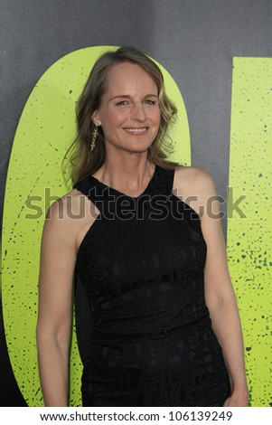 LOS ANGELES - JUN 25: Helen Hunt at the premiere of Universal Pictures' 'Savages' at Westwood Village on June 25, 2012 in Los Angeles, California