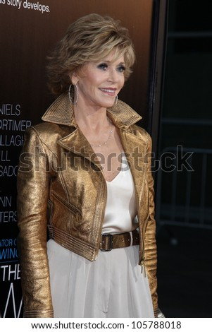 "LOS ANGELES - JUN 20: Jane Fonda at HBO's ""The Newsroom"" LA Premiere at Cinerama Dome Theater on June 20, 2012 in Los Angeles, California"