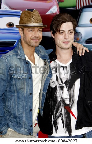"""LOS ANGELES - JUN 18:  Joey Lawrence, Andrew Lawrence arriving at the """"Cars 2"""" Premiere at the El Capitan Theater on June 18, 2011 in Los Angeles, CA"""