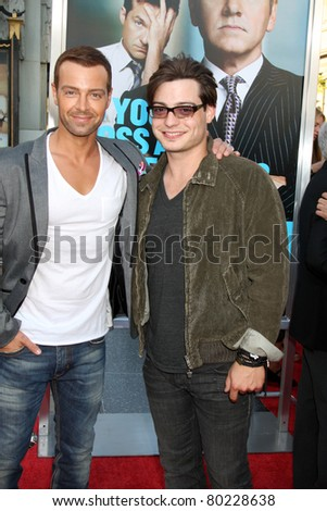 """LOS ANGELES - JUN 30:  Joey Lawrence, Andrew Lawrence arriving at the """"Horrible Bosses"""" Premiere at Graumans Chinese Theater on June 30, 2011 in Los Angeles, CA"""