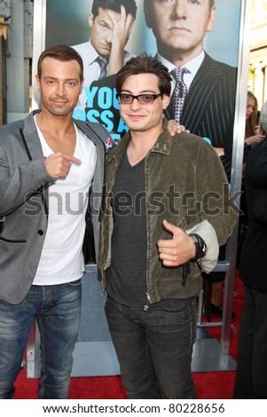 "LOS ANGELES - JUN 30:  Joey Lawrence, Andrew Lawrence arriving at the ""Horrible Bosses"" Premiere at Graumans Chinese Theater on June 30, 2011 in Los Angeles, CA"