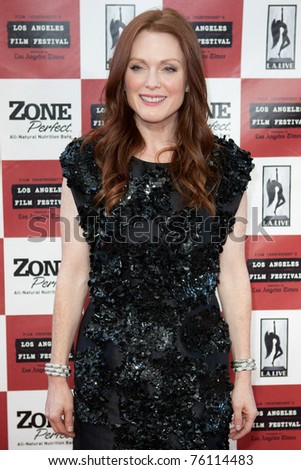 LOS ANGELES - JUN 17: Julianne Moore arrives at The Kids Are All Right premiere during the 2010 Los Angeles Film Festival held at Regal Cinemas at LA Live Downtown on June 17, 2010 in Los Angeles