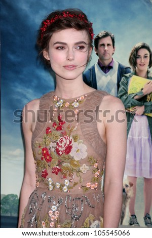 """LOS ANGELES - JUN 18:  Keira Knightley arrives at the """"Seeking A Friend For The End Of The World"""" LAFF Premiere at Regal Cinemas at LA Live on June 18, 2012 in Los Angeles, CA"""