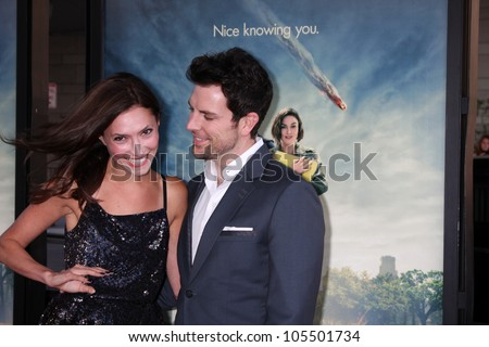 """LOS ANGELES - JUN 18:  Laura Perloe, Chris Mann  arrives at the """"Seeking A Friend For The End Of The World"""" LAFF Premiere at Regal Cinemas at LA Live on June 18, 2012 in Los Angeles, CA"""
