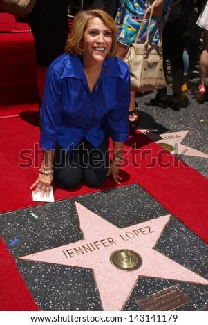 LOS ANGELES - JUN 20:  Lupe Lopez at the Hollywood Walk of Fame star ceremony for Jennifer Lopez at the W Hollywood Hotel on June 20, 2013 in Los Angeles, CA