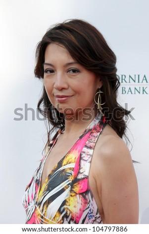 "LOS ANGELES - JUN 9:  Ming-Na arriving at ""The Event"" at Calabasas Tennis & Swim Center on June 9, 2012 in Calabasas, CA"