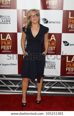 """LOS ANGELES - JUN 14:  Rachael Harris arrives at the """"To Rome With Love"""" LAFF Premiere at Regal Cinemas L.A. LIVE Stadium 14 on June 14, 2012 in Los Angeles, CA"""