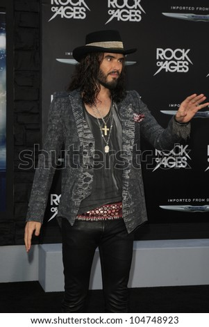 LOS ANGELES - JUN 8: Russell Brand at the 'Rock of Ages' Los Angeles premiere held at Grauman's Chinese Theater on June 8, 2012 in Los Angeles, California