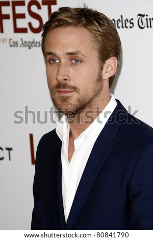 "LOS ANGELES - JUN 17:  Ryan Gosling arriving at the ""Drive"" Premiere  during the 2011 Los Angeles Film Festival at the Regal Cinemas L.A. Live on June 17, 2011 in Los Angeles, CA"