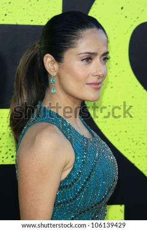 "LOS ANGELES - JUN 25:  Salma Hayek arrives at the ""Savages"" Premiere at Village Theater on June 25, 2012 in Westwood, CA"