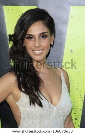 LOS ANGELES - JUN 25: Sandra Echeverria at the premiere of Universal Pictures' 'Savages' at Westwood Village on June 25, 2012 in Los Angeles, California