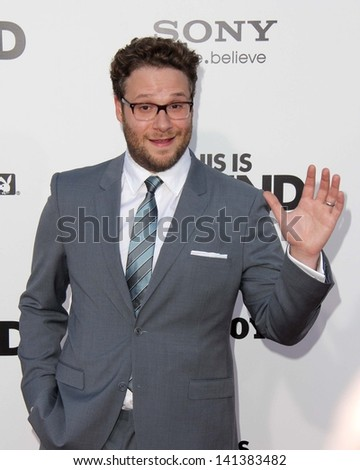 "LOS ANGELES - JUN 3:  Seth Rogen arrivesa at the ""This Is The End"" Los Angeles Premiere at the Village Theater on June 3, 2013 in Westwood, CA"