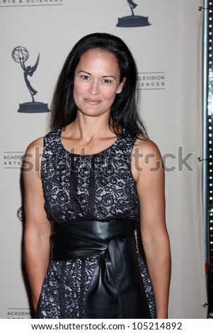 LOS ANGELES - JUN 14:  Sydney Penny arrives at the ATAS Daytime Emmy Awards Nominees Reception at SLS Hotel At Beverly Hills on June 14, 2012 in Los Angeles, CA