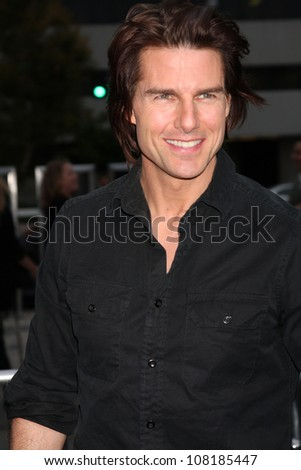 "LOS ANGELES - JUN 8:  Tom Cruise arriving at the ""Super 8"" Premiere at Village Theataer on June 8, 2011 in Westwood, CA"