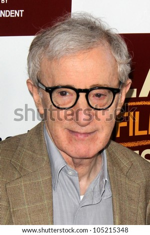 """LOS ANGELES - JUN 14:  Woody Allen arrives at the """"To Rome With Love"""" LAFF Premiere at Regal Cinemas L.A. LIVE Stadium 14 on June 14, 2012 in Los Angeles, CA"""